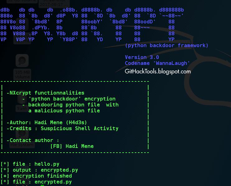 NXcrypt - Encrypt Python backdoors to bypass Anti-Virus