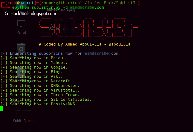 Sublist3r - Fast and Powerful Sub-domain Listing tools for PenTesters