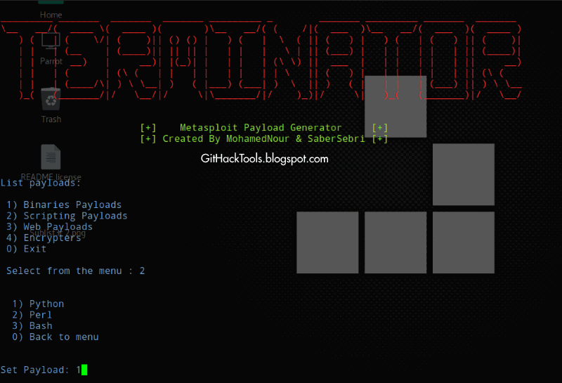 Terminator - Easy way to create Metasploit Payload