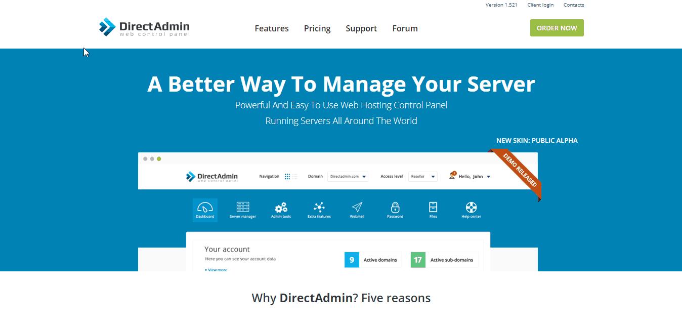 Hướng dẫn sử dụng Direct Admin