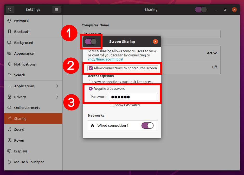 Kích hoạt Ubuntu Remote Desktop